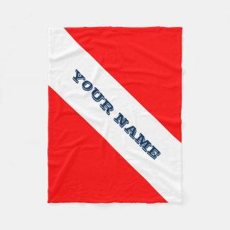 Dive Flag (Customizable) Fleece Blanket
