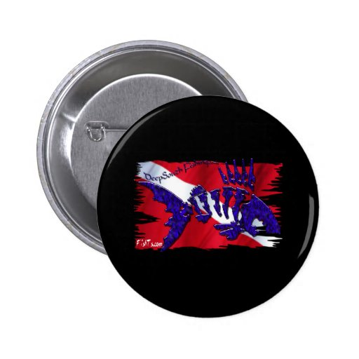Dive Flags with Gear Pinback Buttons