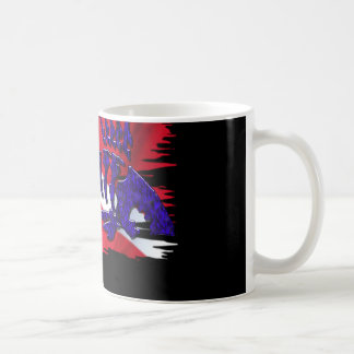 Dive Flags with Gear Basic White Mug