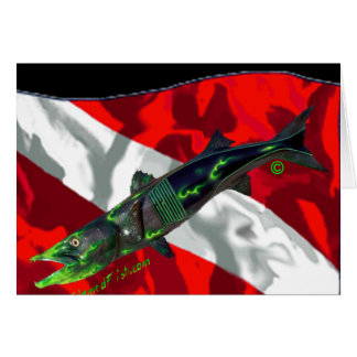 Dive Flags with Gear Greeting Card