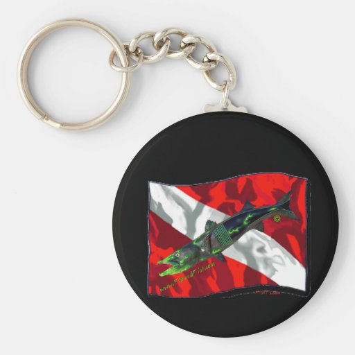 Dive Flags with Gear Key Chain