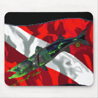 Dive Flags with Gear Mouse Pads