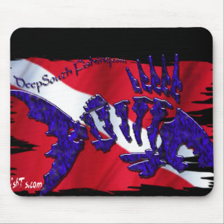 Dive Flags with Gear Mouse Pad
