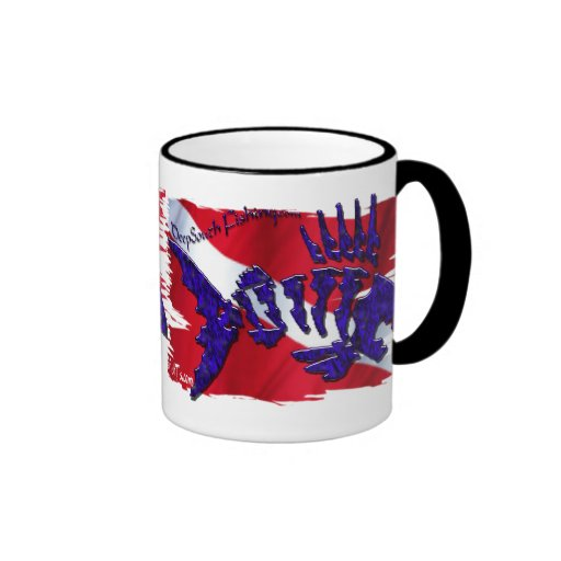 Dive Flags with Gear Mugs