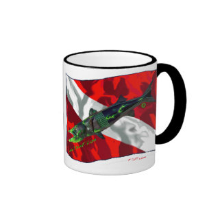 Dive Flags with Gear Ringer Mug