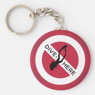 Dive Here Key Ring