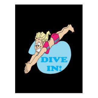 Dive In Postcard