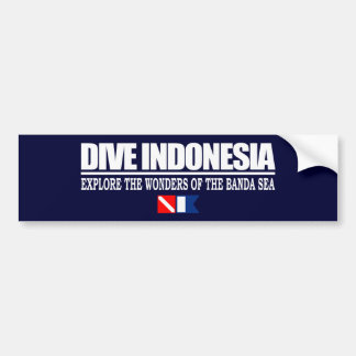 Dive Indonesia Bumpersticker Bumper Sticker