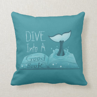 Dive into a Good Book Cushion