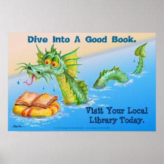 Dive Into A Good Book. Poster