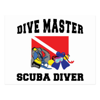 Dive Master SCUBA Diver Post Card