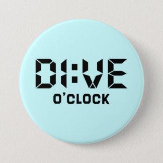 Dive O'Clock 7.5 Cm Round Badge