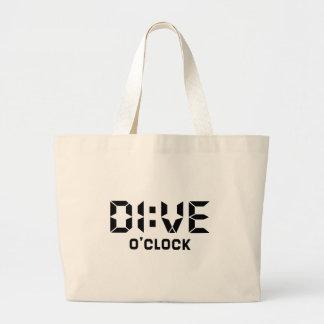 Dive O'Clock Large Tote Bag