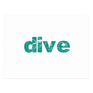 dive postcard