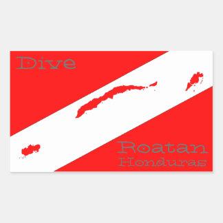 Dive Roatan Rectangular Sticker