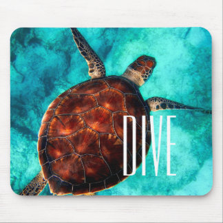 Dive Sea Turtle Mouse Pad