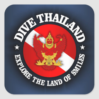 Dive Thailand (rd) Square Sticker