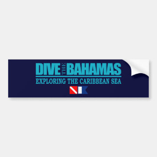 Dive The Bahamas Bumpersticker Bumper Sticker