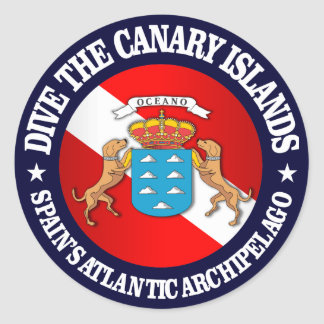 Dive the Canary Islands Round Sticker