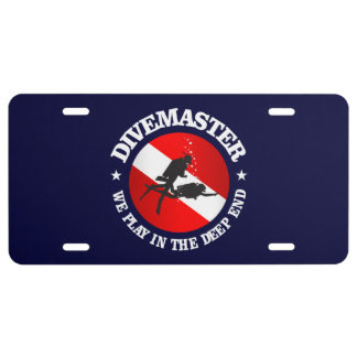 Divemaster Deep End License Plate