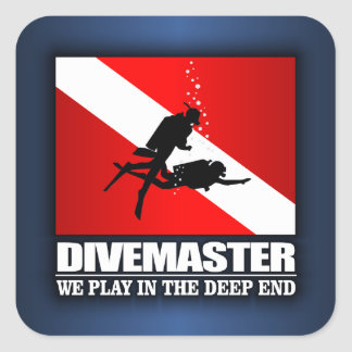 Divemaster (Deep End) Square Stickers