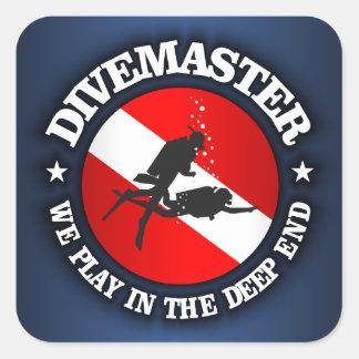 Divemaster Deep End Square Sticker