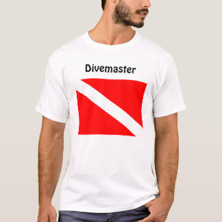 Divemaster Diver Below Flag T Shirt