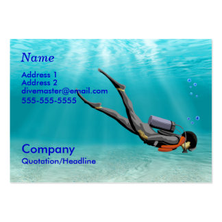 Divemaster Pack Of Chubby Business Cards