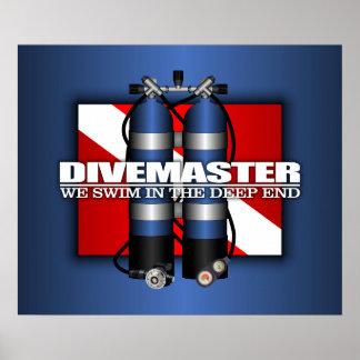 Divemaster Scuba Tanks Print
