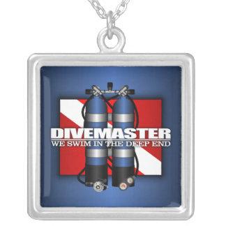 Divemaster (Scuba Tanks) Square Pendant Necklace