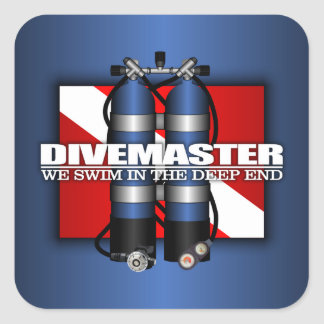 Divemaster (Scuba Tanks) Square Sticker