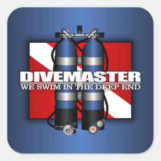 Divemaster (Scuba Tanks) Square Sticker