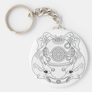 Diver 1st Class Key Chains