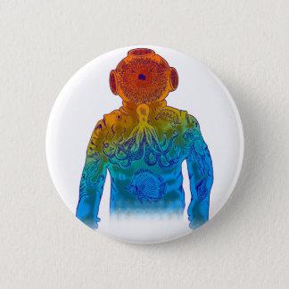Diver 6 Cm Round Badge