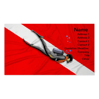 Diver And Dive Flag Business Card Templates