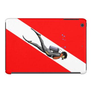 Diver And Dive Flag iPad Mini Retina Cases