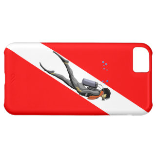Diver And Dive Flag iPhone 5C Case