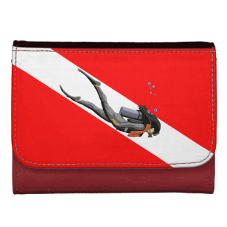 Diver And Dive Flag Women's Wallet