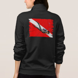 Diver And Wrinkled Dive Flag Tee Shirt