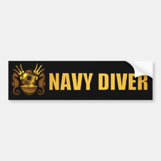 diver bumpersticker bumper sticker
