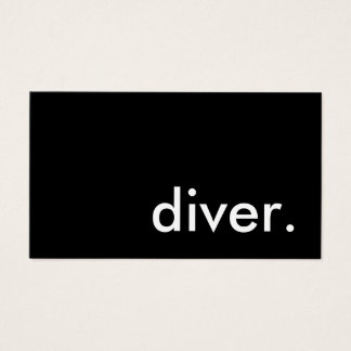 diver. business card