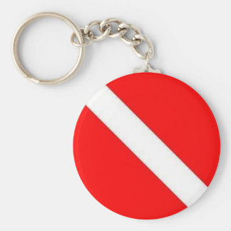 DIVER DOWN BASIC ROUND BUTTON KEY RING