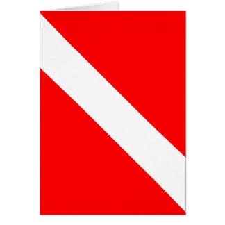 Diver Down Classic Flag Card