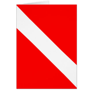 Diver Down Classic Flag Greeting Card