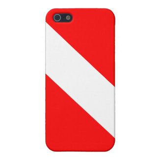 Diver Down Classic Flag iPhone 5 Covers