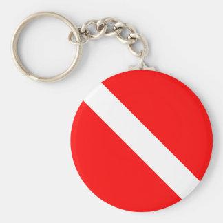 Diver Down Classic Flag Key Chain