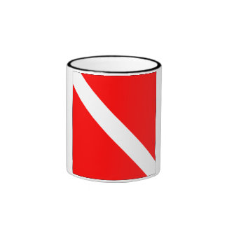 Diver Down Classic Flag Ringer Mug