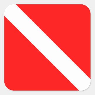 Diver Down Classic Flag Square Sticker