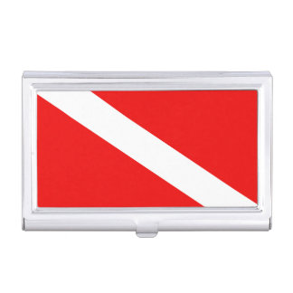 Diver Down Flag Business Card Holders
