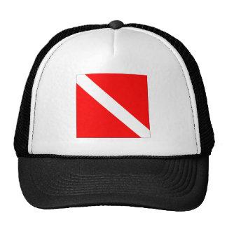 Diver Down Flag Cap